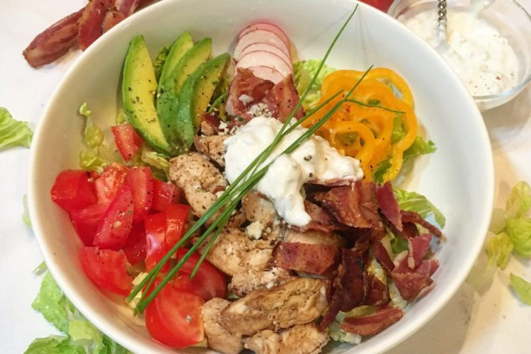 Chicken Bacon Salad with Yogurt Gorgonzola Dressing ...