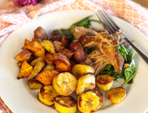 Simple Oven-Baked Plantains with Coconut Oil