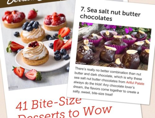 "Featured Recipe on Shari's Berries: ""41 Bite-size desserts to wow your guests!"""