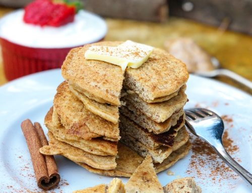 Low Carb Cinnamon Almond Pancakes