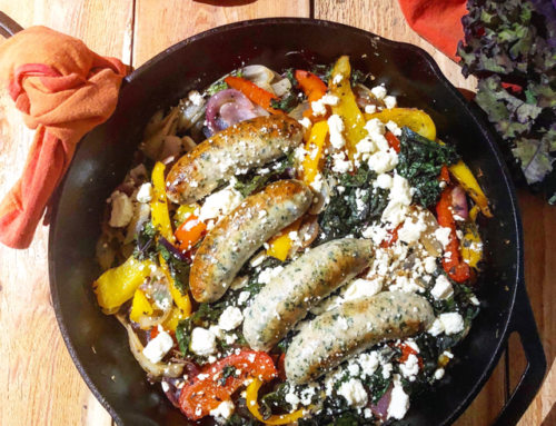 Mediterranean Skillet Sausage and Vegetables