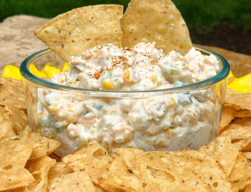 Corn, Jicama, & Chile Cheesy Fiesta Dip